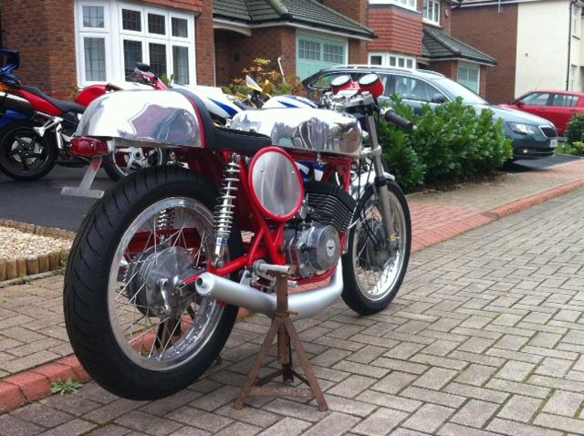 moto guzzi 250 ts cafe racer project